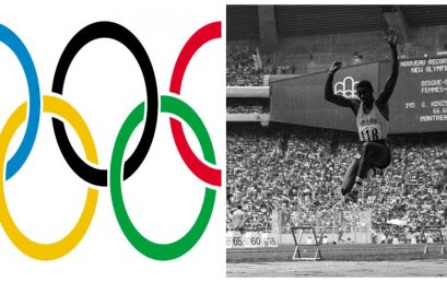 Modalidades do Atletismo -corrida e salto em extensão.