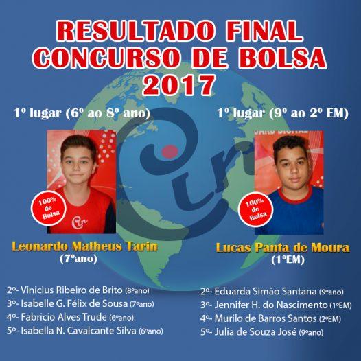 Resultado Final – Concurso Bolsa 2017