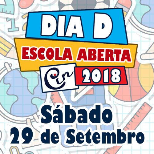 Vem aí… Dia D – Escola Aberta – Sábado 29/09
